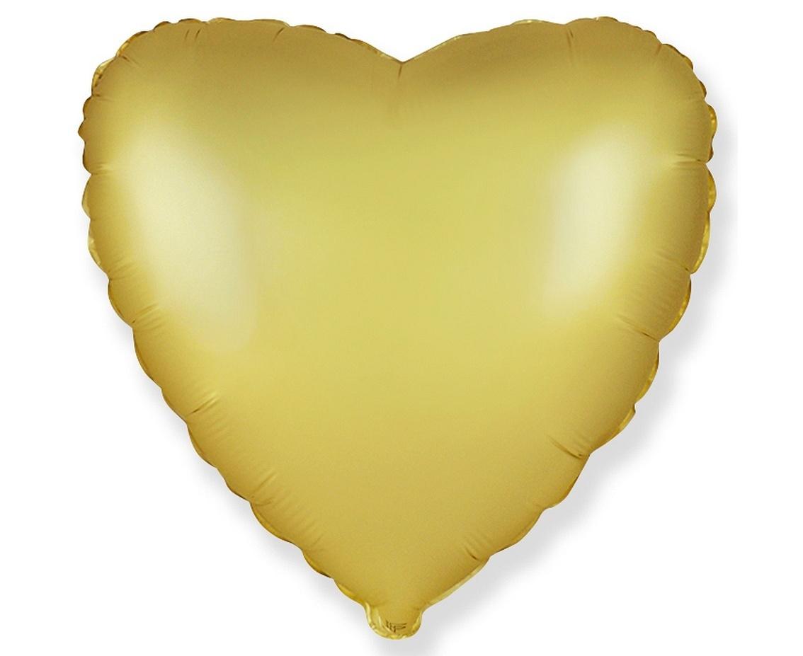 srdce saténové zlaté
