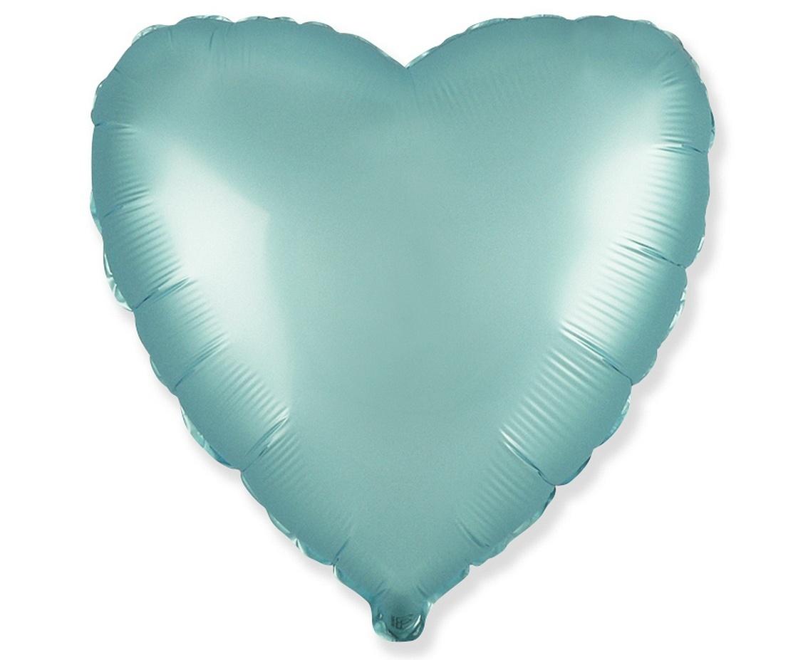 srdce saténové modré
