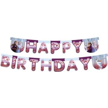 Obrázek Party nápis Frozen 2 - Happy Birthday 230 cm