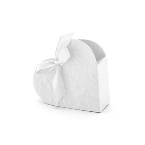 Obrázek z Krabičky na drobné dárky Srdíčko ražené - 10 ks
