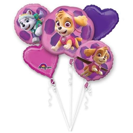 Obrázek z Sada foliových balonků Tlapková Patrola Pink - 5 ks
