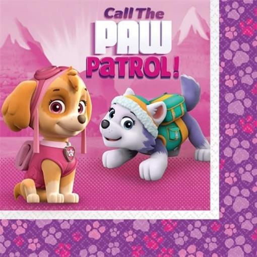 Obrázek z Papírové ubrousky Tlapková patrola Pink 20 ks