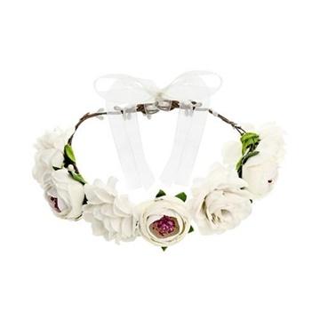 Obrázek Čelenka s bílými květy - korunka bílá