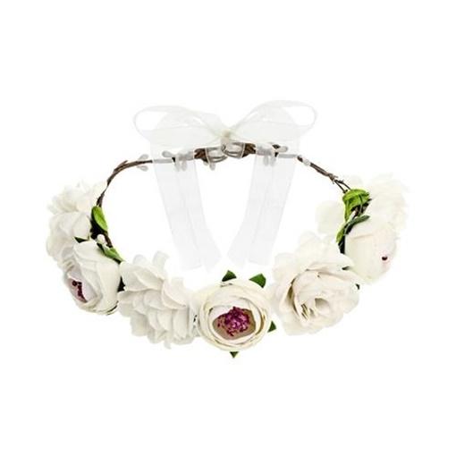 Obrázek z Čelenka s bílými květy - korunka bílá