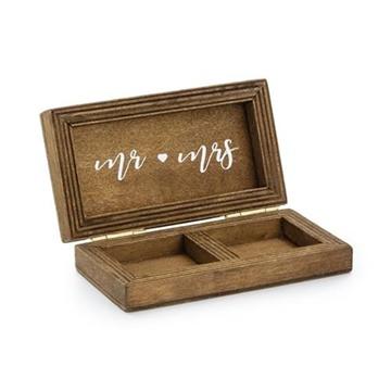 Obrázek Krabička na snubní prstýnky dřevěná