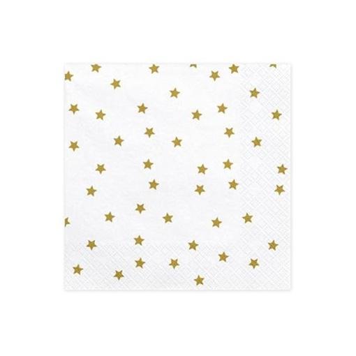 Obrázek z Papírové ubrousky zlaté hvězdy 20ks
