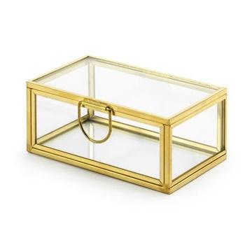Obrázek Krabička na snubní prstýnky skleněná