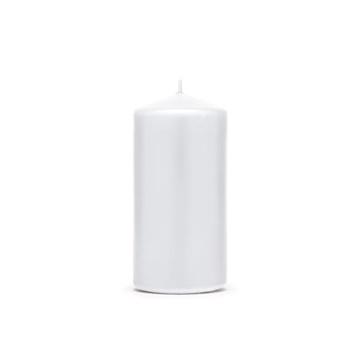 Obrázek Svíčka matná bílá, 12 x 6 cm - 1 ks