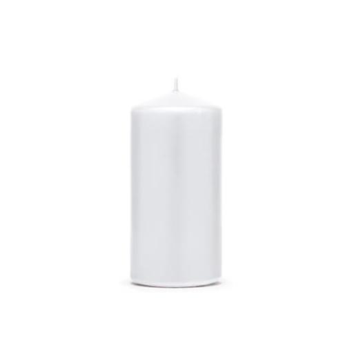 Obrázek z Svíčka matná bílá 12 x 6 cm - 1 ks