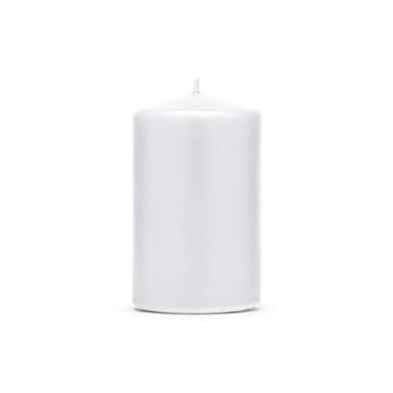 Obrázek Svíčka matná bílá, 10 x 6,5 cm - 1 ks