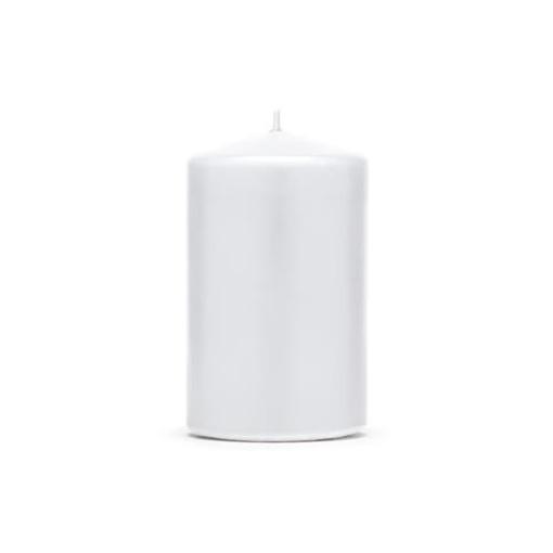 Obrázek z Svíčka matná bílá 10 x 6,5 cm - 1 ks
