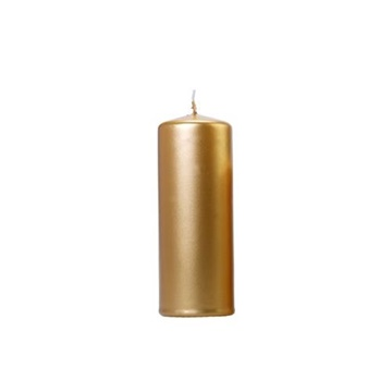 Obrázek Svíčka metalická zlatá, 15 x 6 cm - 1 ks