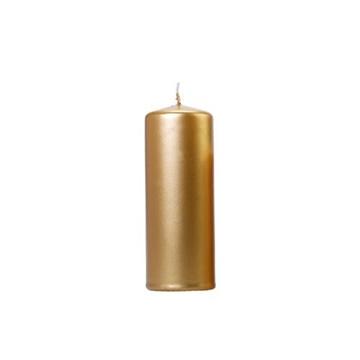 Obrázek Svíčka metalická zlatá 15 x 6 cm - 1 ks