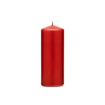 Obrázek Svíčka matná červená 15 x 6 cm - 1 ks
