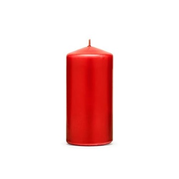 Obrázek Svíčka matná červená, 12 x 6 cm - 1 ks