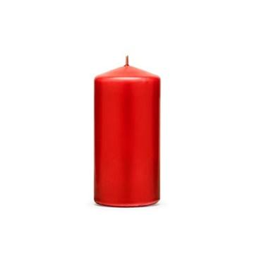 Obrázek Svíčka matná červená 12 x 6 cm - 1 ks
