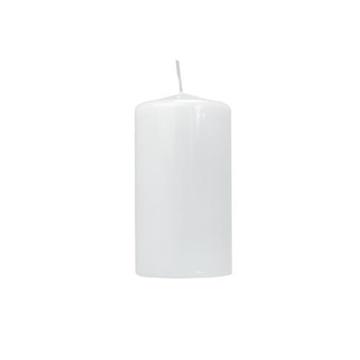 Obrázek Svíčka lesklá bílá 12 x 6 cm - 1 ks