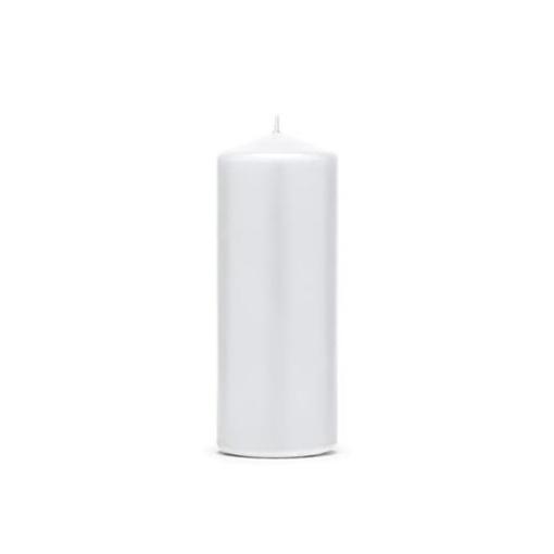 Obrázek z Svíčka matná bílá 15 x 6 cm - 1 ks