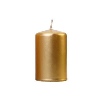 Obrázek Svíčka metalická zlatá, 10 x 6,5 cm - 1 ks