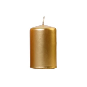 Obrázek Svíčka metalická zlatá 10 x 6,5 cm - 1 ks