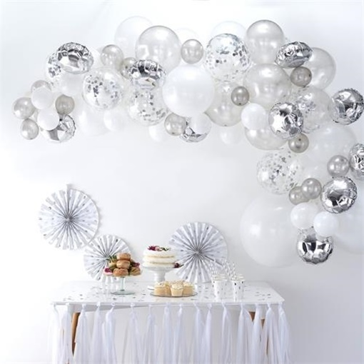 Obrázek z Sada na balonkovou girlandu Silver