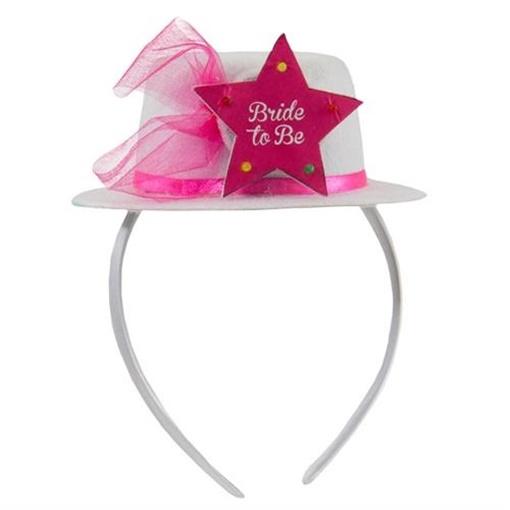 Obrázek z Čelenka s kloboučkem Bride to Be - LED