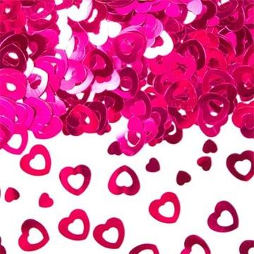 Obrázek Konfety Růžová srdce 14 g