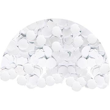Obrázek Konfety papírová kolečka Bílá - 1 000 g