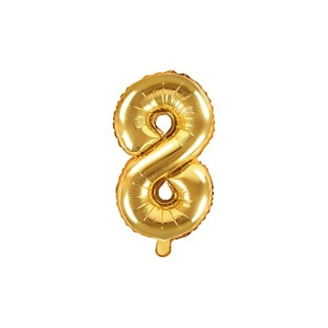 Obrázek Foliová číslice - zlatá 8 - 35 cm