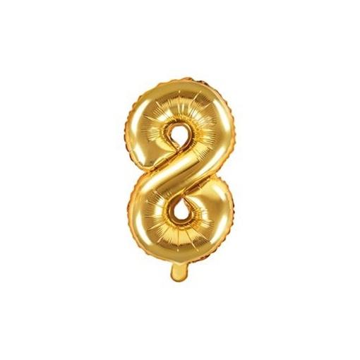 Obrázek z Foliová číslice - zlatá 8 - 35 cm