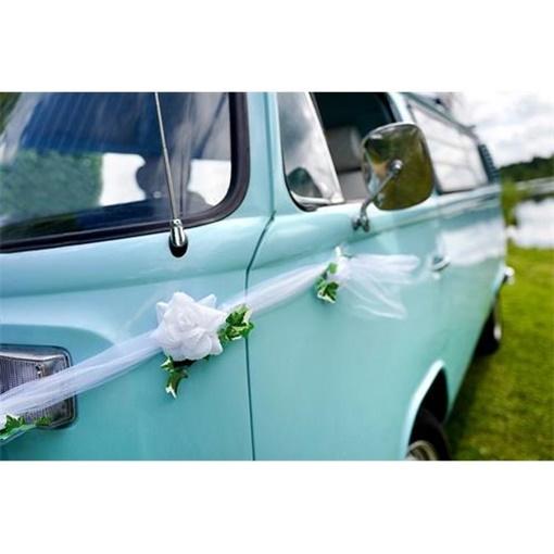 Obrázek z Dekorační girlanda na auto se zelenými lístky 170 cm