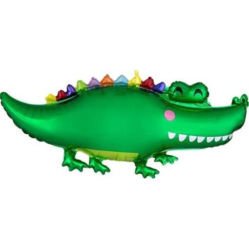 Obrázek z Foliový balonek krokodýl 106 cm