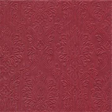 Obrázek Papírové ubrousky bordo s ražbou 16 ks