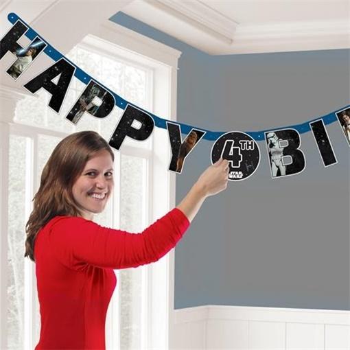 Obrázek z Narozeninový banner  STAR WARS - Happy Birthday 140 x 13 cm
