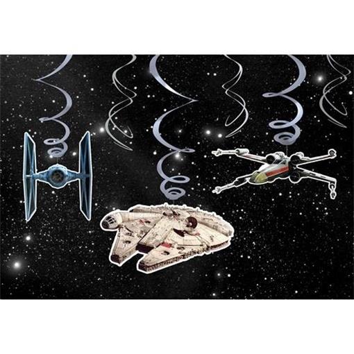 Obrázek z Závěsné spirály STAR WARS 6 ks