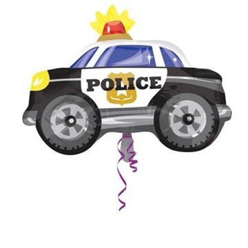 Obrázek Foliový balonek Policejní auto premium 60 cm