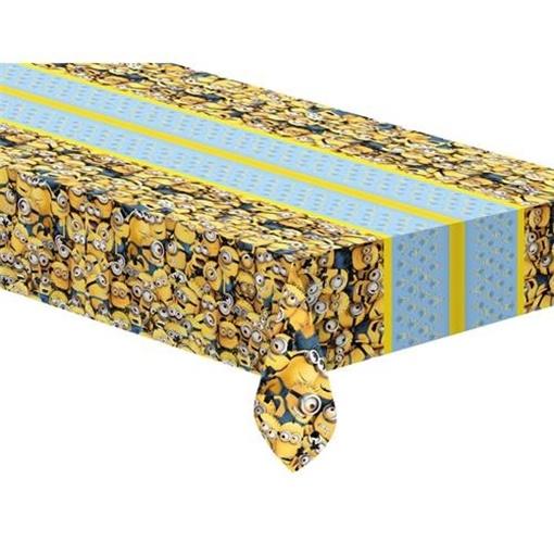 Obrázek z Plastový party ubrus Mimoni žlutý 120 x 180 cm