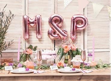 Obrázek pro kategorii Stylová Levandulová a RoseGold svatba