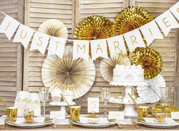 Obrázek pro kategorii Stylová Gold and White svatba