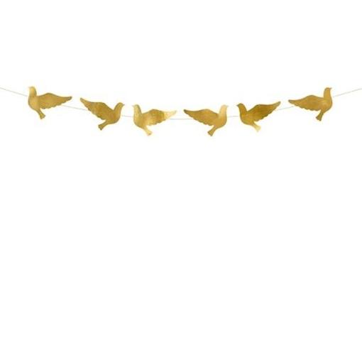 Obrázek z Girlanda holubice zlatá 86 cm