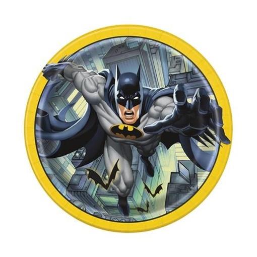 Obrázek z Papírové talíře Batman 23 cm - 8 ks