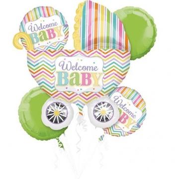 Obrázek Sada foliových balonků Welcome Baby - 5 ks