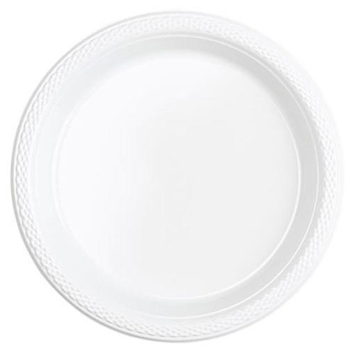 Obrázek z Plastové talířky bílé 18 cm - 20 ks