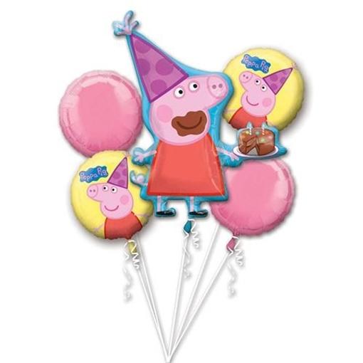 Obrázek z Sada foliových balonků Prasátko Peppa 5 ks