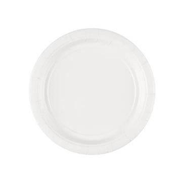 Obrázek Papírové talíře bílé 18 cm - 8 ks