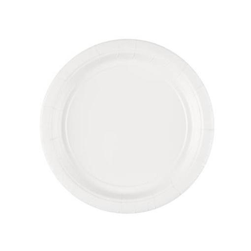 Obrázek z Papírové talíře bílé 18 cm - 8 ks
