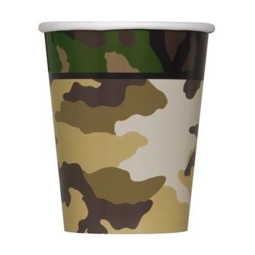 Obrázek Papírové kelímky Vojenské - military 8 ks