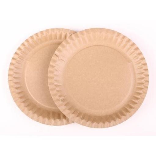 Obrázek z Papírový talíř KRAFT 23 cm - 100 ks