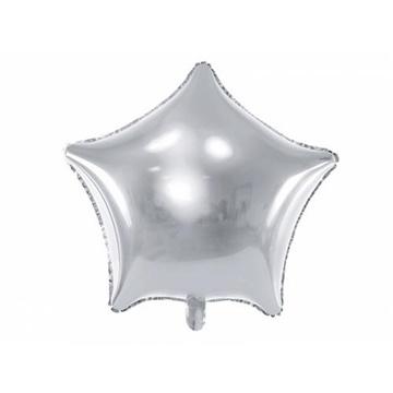 Obrázek Foliový balonek hvězda stříbrná 48 cm - balené