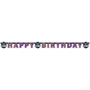 Obrázek Party nápis Happy Birthday Policie 180 cm